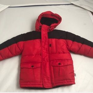 Rothschild Extreme Riders red/black hooded coat 4T